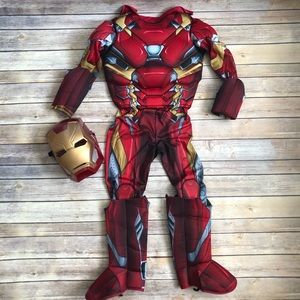Marvel Iron Man Civil War Kids Costume with Mask